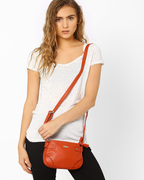 Sling Bag With Adjustable Strap By Lavie ( Orange )