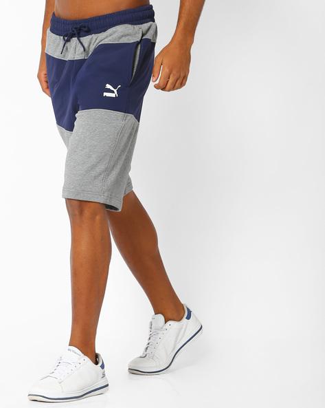 Archive Logo Colourblock Sweat Bermuda Shorts By Puma ( Grey )