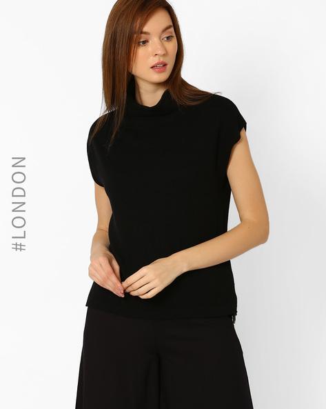 Roll-Neck Pullover By Marks & Spencer ( Black )