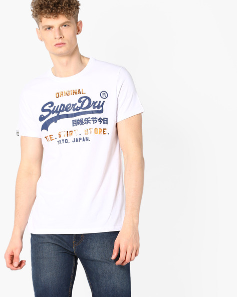 Graphic Print Crew-Neck T-shirt By SUPERDRY ( 01c )