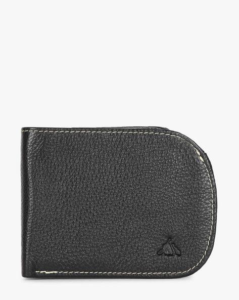 Genuine Leather Textured Bi-Fold Wallet By ALVARO CASTAGNINO ( Black ) - 460135649001