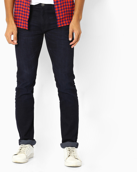 Slim Fit Jeans With Whiskers By Pepe Jeans ( Blue )