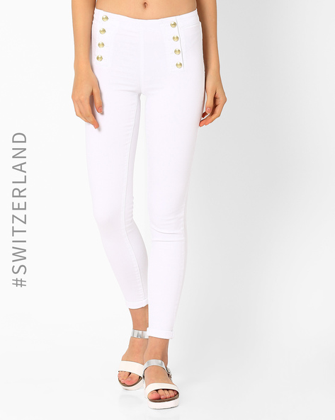 Ankle-Length Trousers By TALLY WEiJL ( White )