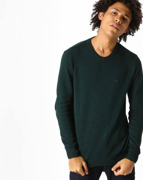Printed Jacquard Knit Pullover By Lee ( Green )