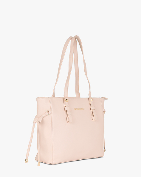Textured Tote Bag By Lino Perros ( Pink )