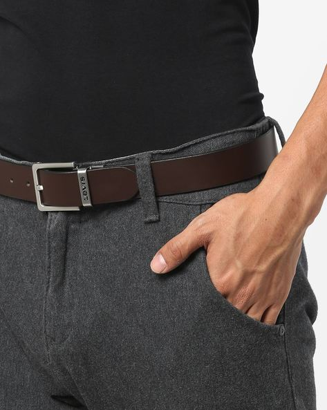 Leather Belt With Buckle Closure By LEVIS ( Brown ) - 460147787001