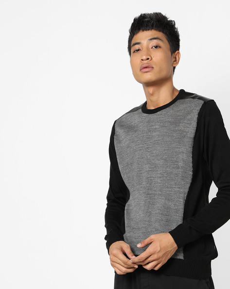 Colourblock Crew-Neck Pullover By FLYING MACHINE ( Assorted )