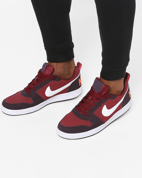 Panelled Sneakers With Perforations By NIKE ( Red )