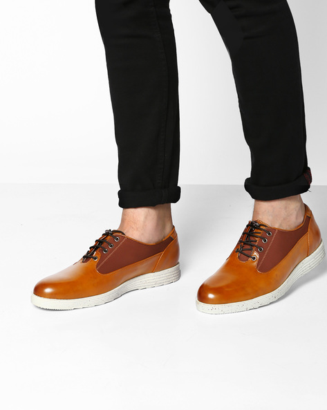 Smart Casual Shoes With Speckled Sole By Muddman ( Tan )