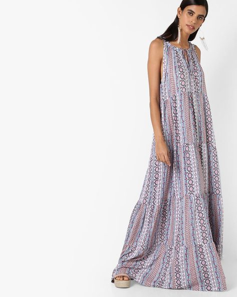 Printed Maxi Dress By RI-DRESS ( Multi )