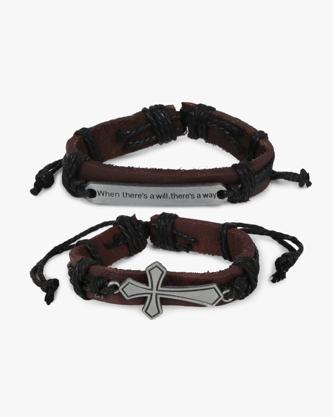 Pack Of 2 Bracelets By ALPHA MAN ( Black )