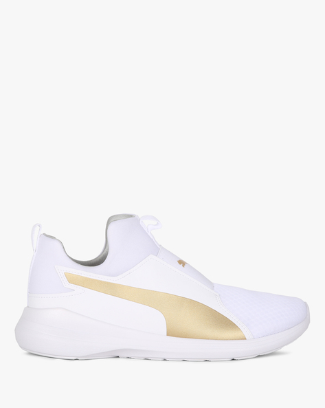Rebel Mid-Top Panelled Slip-On Shoes By Puma ( Multi )