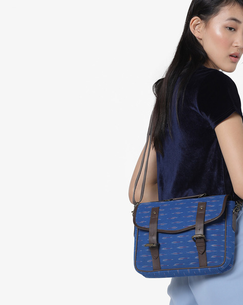 Ikkat Print Sling Bag By Project Eve ( Multi )