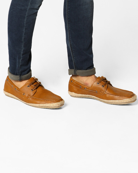 N9-Treated Slip-On Casual Shoes By AJIO ( Tan )
