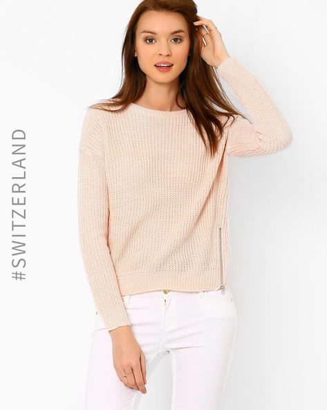 Knitted Sweater By TALLY WEiJL ( Pink )