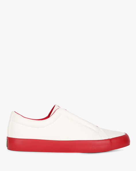 Low-Top Colourblock Sneakers By UNITED COLORS OF BENETTON ( Red )