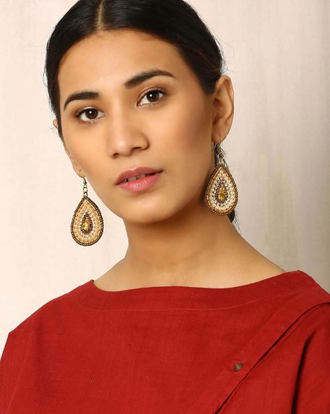 Beaded Dangler Earrings By Indie Picks ( Multi ) - 460017836001