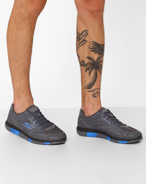 Go Flex Lace-Up Sports Shoes By Skechers ( Blue )