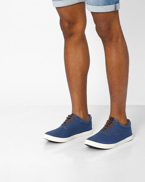 Canvas Lace-Up Shoes By Jack & Jones ( Blue )