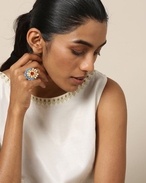 Matte Finish Brass Ring By Indie Picks ( Multi ) - 460161683001