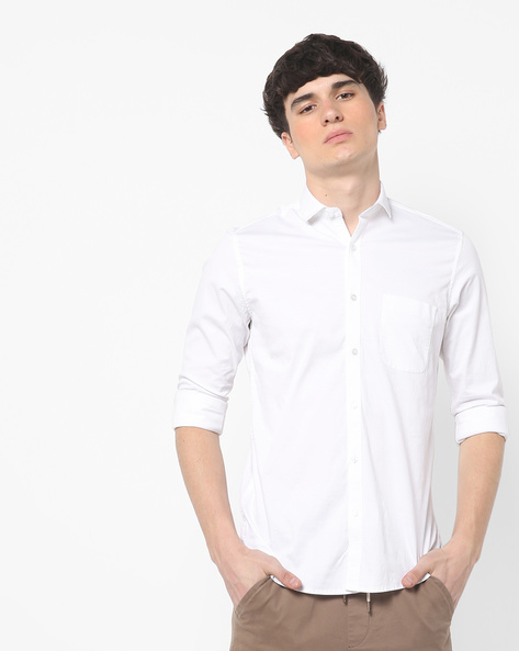 Classic Shirt With Patch Pocket By Killer ( White )