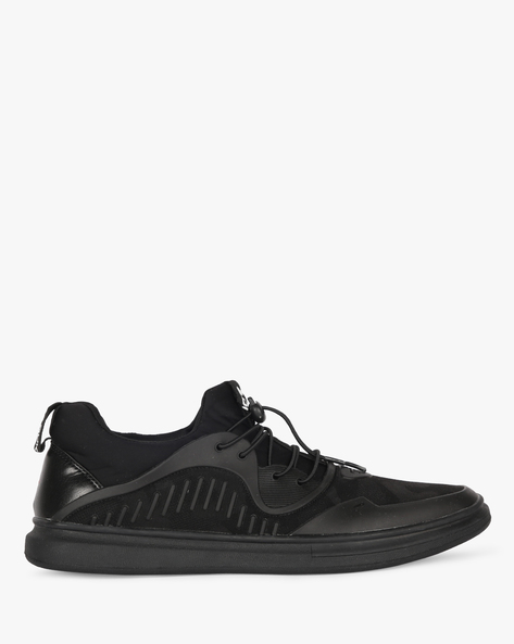Panelled Sneakers With Toggle Closure By DUKE ( Black )