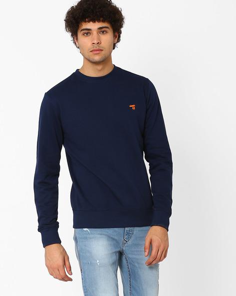 Slim Fit Sweatshirt By The Indian Garage Co ( Navy )