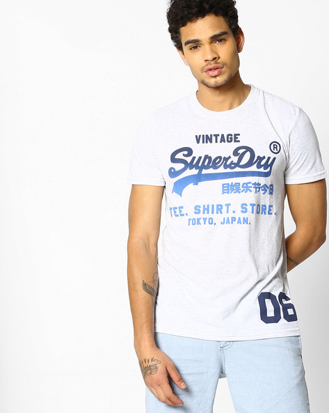 Shop Fade Crew-Neck T-shirt By SUPERDRY ( 54g )