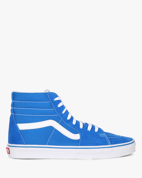 Sk8-Hi High-Top Lace-Up Casual Shoes By Vans ( Blue )