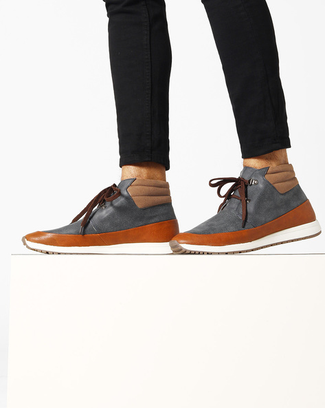 Mid-Top Lace-Up Shoes By Knotty Derby ( Navy )