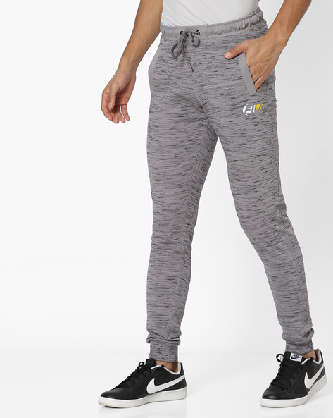 Heathered Joggers With Elasticated Waist By FILA ( Grey )