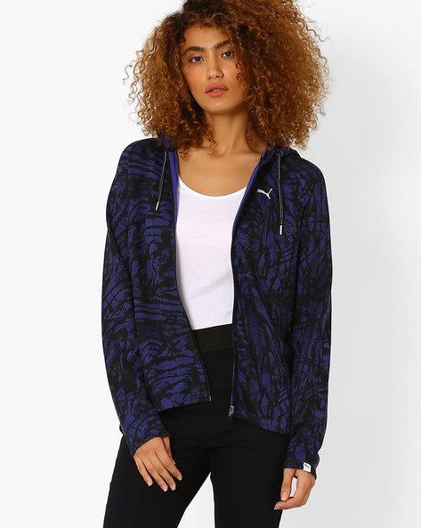 Printed Sweatshirt With Raglan Sleeves By Puma ( Blue )