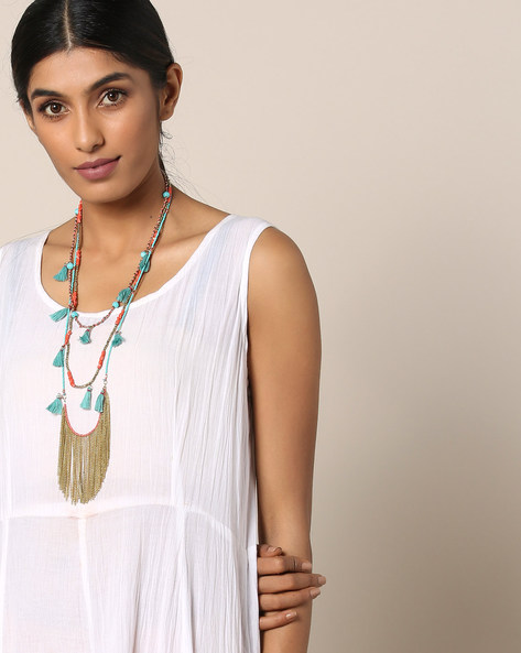 Beaded Layered Necklace By Indie Picks ( Multi )