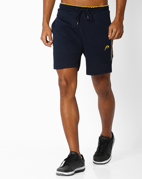 Knitted Shorts With Elasticated Waist By PROLINE ( Navy )