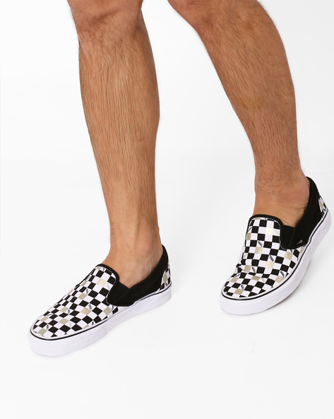 50th Canvas Slip-On Shoes By Vans ( Black )