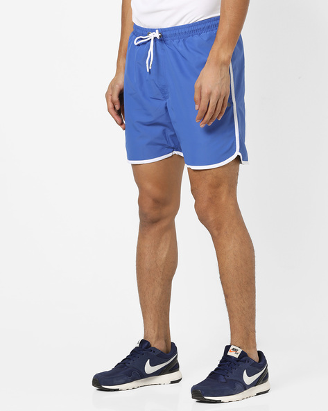Running Shorts With Contrast Taping By FILA ( Blue )