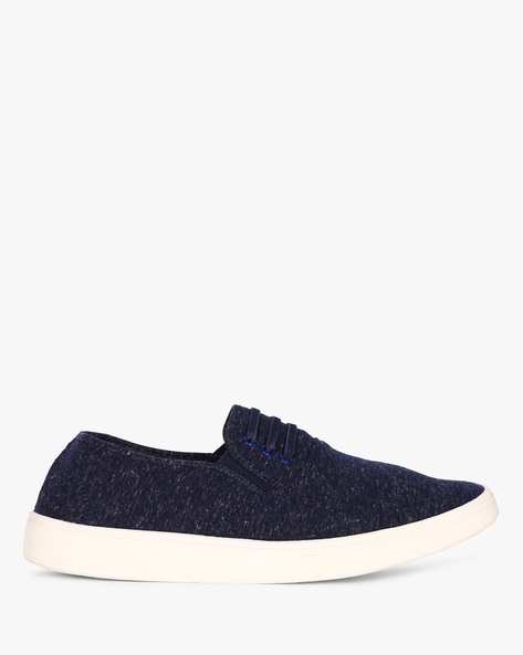 Slip-On Sneakers With Elasticated Gussets By Nuboy ( Navy ) - 460087808008