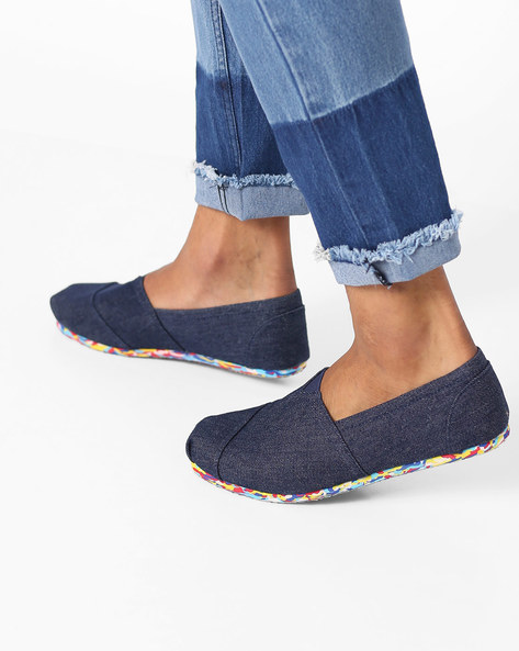 Panelled Slip-On Shoes By AJIO ( Navy )