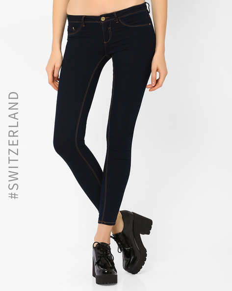Low-Rise Skinny Jeans By TALLY WEiJL ( Blue ) - 460014540002