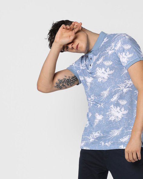 Jjor Floral Print Polo T-shirt By Jack & Jones ( Assorted )