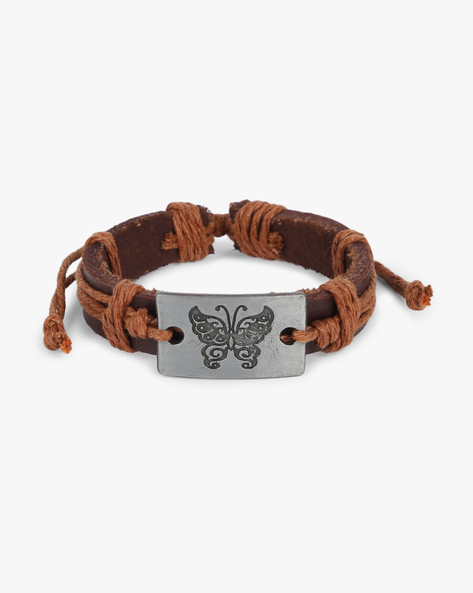 Bracelet With Metal Accent By ALPHA MAN ( Brown ) - 460134301002