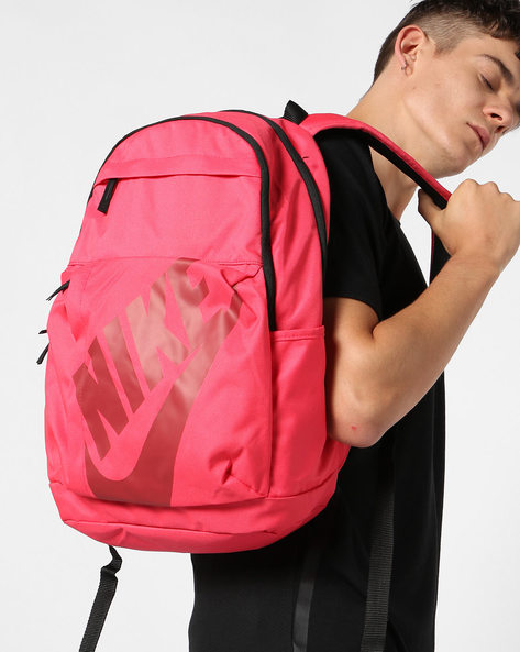 Laptop Backpack With Branding By NIKE ( Red )