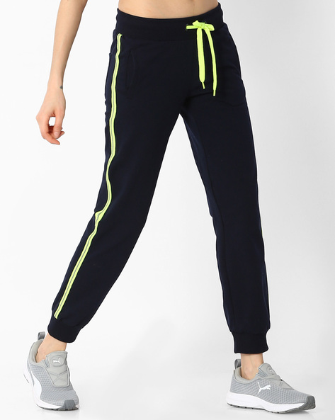 Cuffed Track Pants With Contrast Taping By Teamspirit ( Navy )