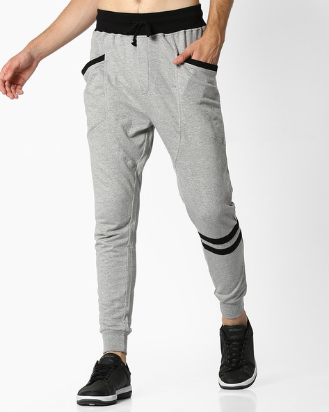 Slim Fit Joggers With Elasticated Waist By DEEZENO ( Grey )