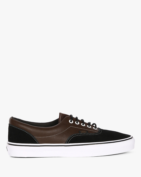Suede Lace-Up Casual Shoes By Vans ( Black )