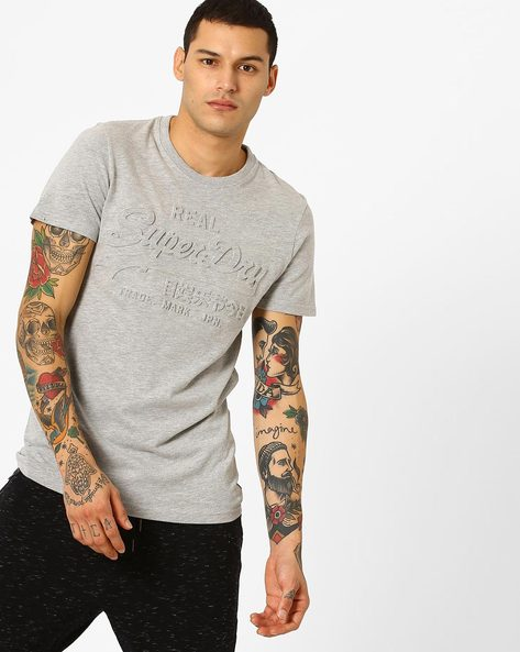 Embossed Crew-Neck T-shirt By SUPERDRY ( 07q )