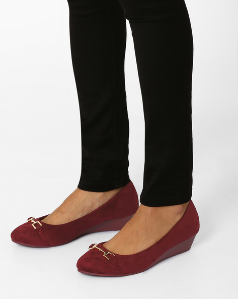 Millo Suede Wedges By Tresmode ( Wine )
