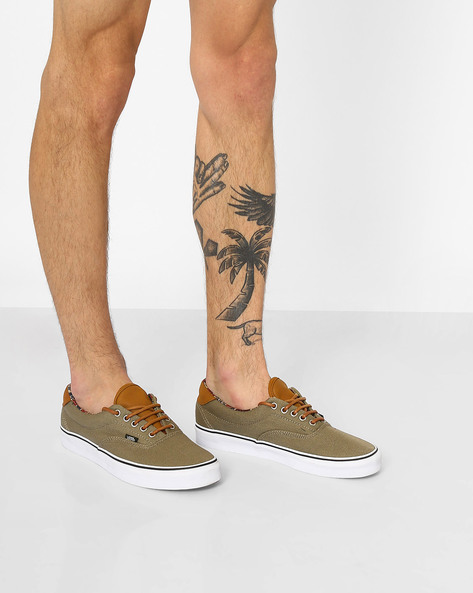 Era 59 Panelled Casual Shoes By Vans ( Olive )