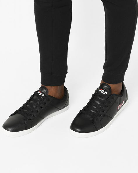 Textured Lace-Up Shoes By FILA ( Black ) - 460149584002