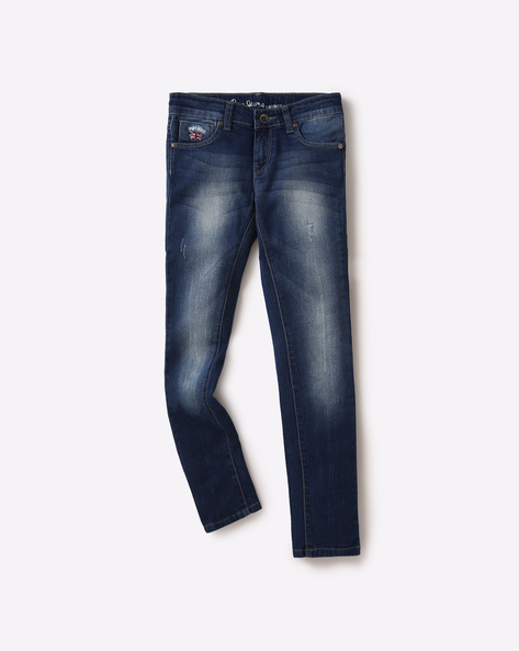 Light Wash & Distressed Jeans By PEPE ( Blue )